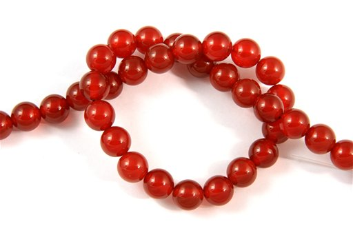 Carnelian, 10mm, Round Shape Beads