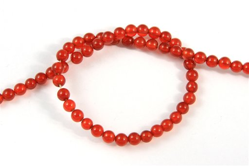 Carnelian, 4mm, Round Shape Beads
