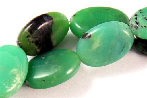 Chinese Chrysoprase, 10X14mm, Oval Shape Beads