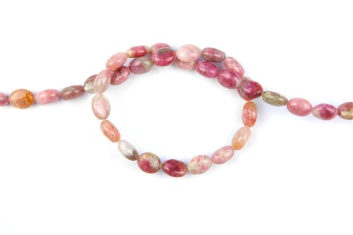 Chinese Pink Tourmaline, 8x10mm, Oval Shape Beads