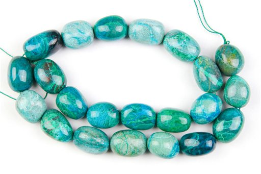 Chrysocolla , 12x16mm, Nuggut Shape Beads