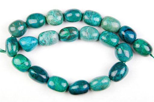 Chrysocolla , 15x20mm, Nuggut Shape Beads