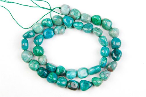 Chrysocolla , 8x10mm, Nuggut Shape Beads