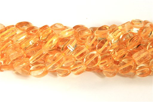 Citrine, 7x9mm, Oval Shape Beads