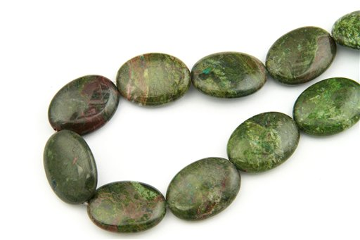 Copper Jasper, 22x30mm, Oval Shape Beads