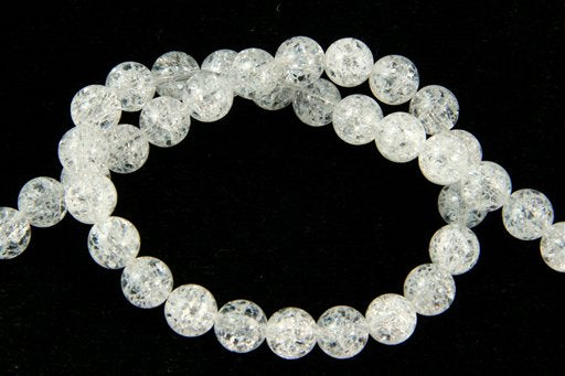 Cracked Crystal, 8mm, Round Shape Beads