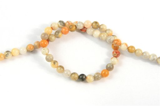 Crazy Lace Agate, 4mm, Round Shape Beads