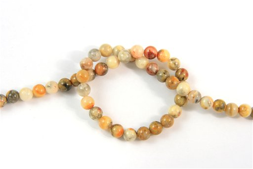 Crazy Lace Agate, 6mm, Round Shape Beads