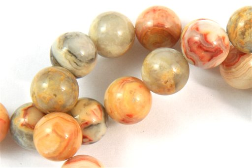 Crazy Lace Agate, 8mm, Round Shape Beads