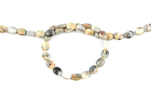 Crazy Lace Agate, 8x10mm, Oval Shape Beads