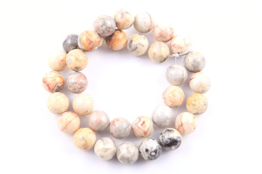 Crazy Lace Agate, 12mm, Round Shape Beads