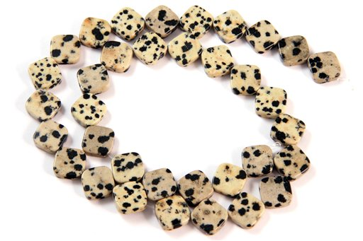 Dalmatian, 10mm, Flat Diamond Shape Beads