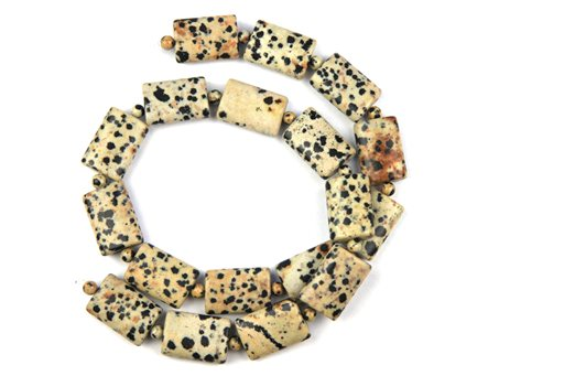 Dalmatian, 13x18mm, Pillow Shape Beads