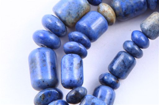 Dumortierite, 6-8mm, Barrel Rondelle Assorted Shape Beads