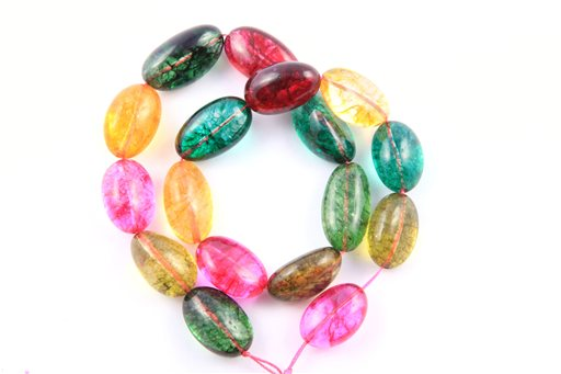 Dyed Crystal, 12x22mm, Nugget Shape Beads
