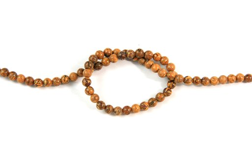 Elephant Jasper, 4mm, Round Shape Beads