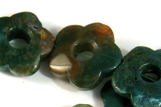 Fancy Jasper, 20mm, Flower Donut Shape Beads