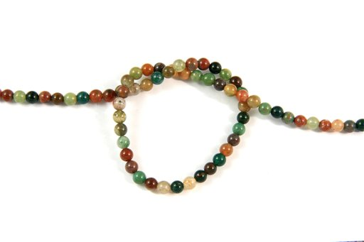 Fancy Jasper, 4mm, Round Shape Beads