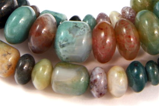 Fancy Jasper, 3-10mm, Barrel Rondelle Assorted  Shape Beads