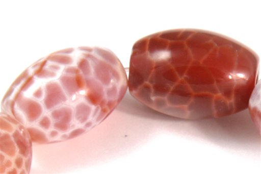 Fire Agate, 13x18mm, Rice Shape Beads