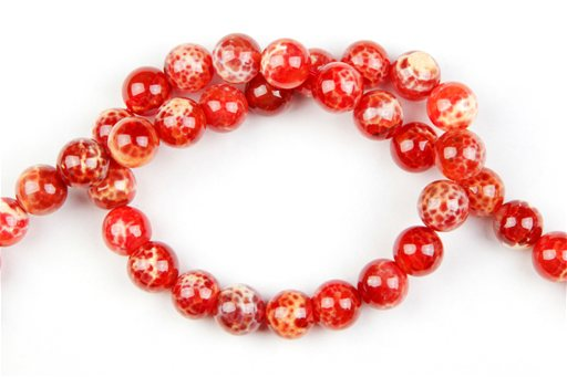 Fire Agate, 10mm, Round Shape Beads