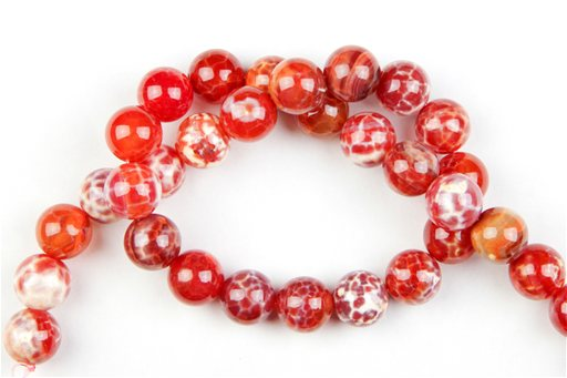 Fire Agate, 12mm, Round Shape Beads