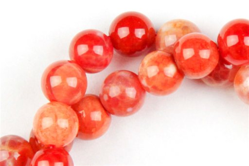 Fire Agate, 6mm, Round Shape Beads