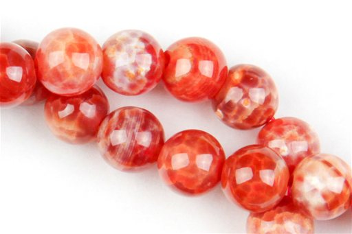 Fire Agate, 8mm, Round Shape Beads