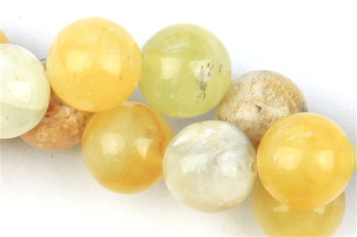 Flower Jade, 10mm, Round Shape Beads