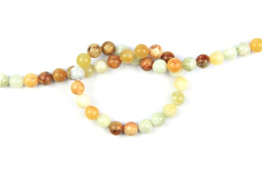 Flower Jade, 8mm, Round Shape Beads