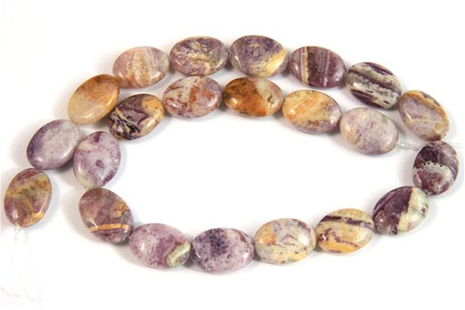 Flower Sugilite, 13x18mm, Oval Shape Beads