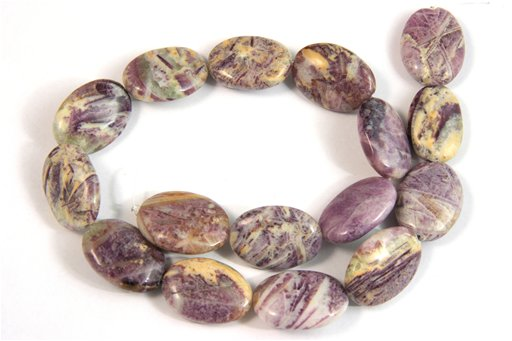 Flower Sugilite, 18x25mm, Oval Shape Beads