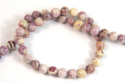 Flower Sugilite, 8mm, Round Shape Beads