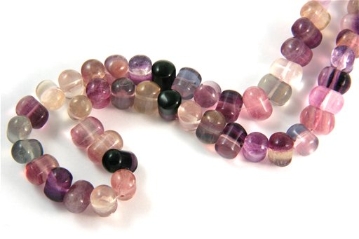 Fluorite, 7x10mm, Side Drill Shape Beads