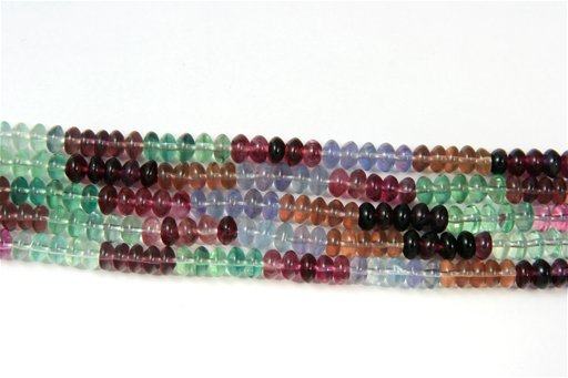 Fluorite (AA), 8mm, Rondelle Shape Beads