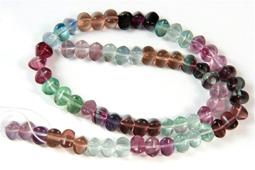 Fluorite (AA), 8mm, Tri-Rondelle Shape Beads
