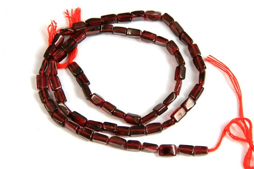 Garnet, Irregular 4x6mm, Rectangular Tube Shape Beads