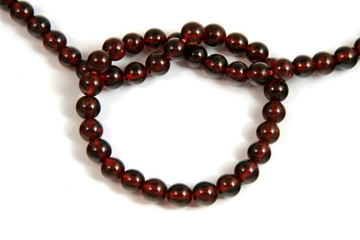 Garnet, 6mm, Round Shape Beads