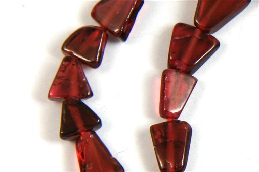 Garnet, Irregular 5mm, Small Triangle Shape Beads
