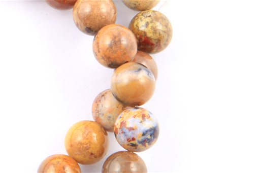 Golden Jasper, 8mm, Round Shape Beads