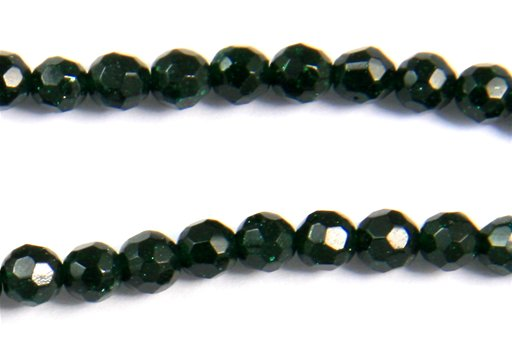 Green Gold Stone, 4mm, Faceted Round Shape Beads