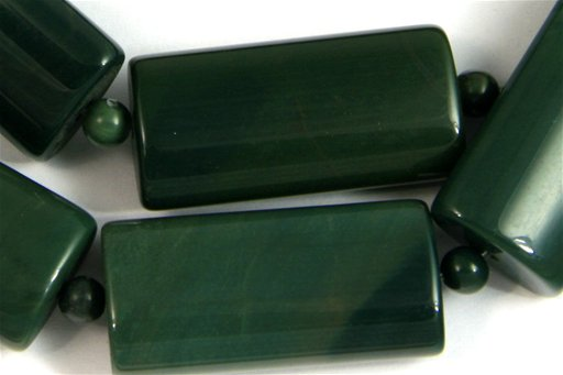 Green Imperial Jasper, 15x30mm, Pillow Shape Beads