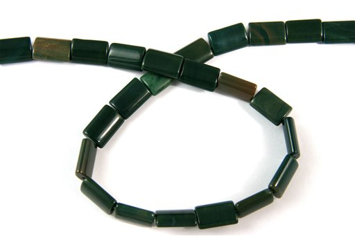 Green Imperial Jasper, 10x14mm, Pillow Shape Beads