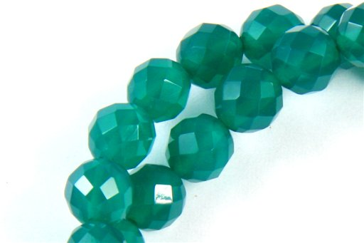 Green Onyx, 6mm, Faceted Round Shape Beads