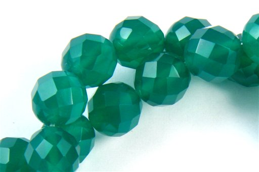 Green Onyx, 8mm, Faceted Round Shape Beads