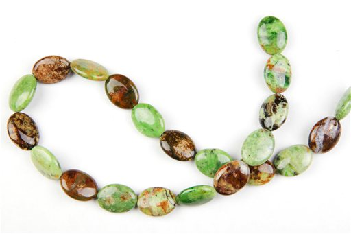 Green Opal, 13x18mm, Oval Shape Beads