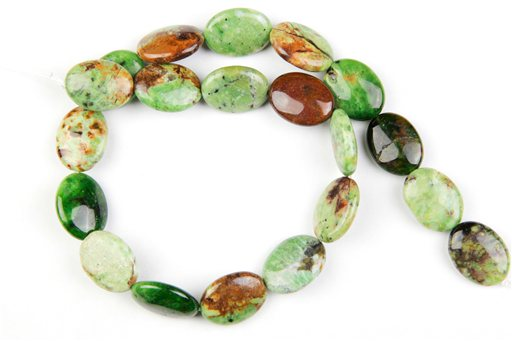 Green Opal, 15x20mm, Oval Shape Beads