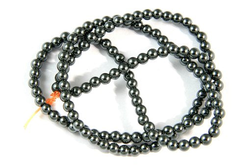 Hematite, 3mm, Round Shape Beads
