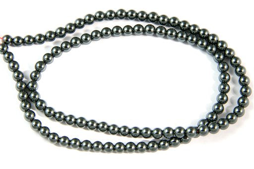 Hematite, 4mm, Round Shape Beads