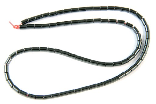 Hematite, 3x5mm, Tube Shape Beads